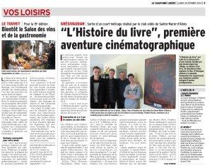 L'Histoire du livre, film cinéma